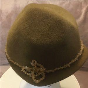Olive handmade vintage hat